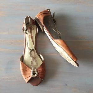 Anthropologie Seychelles Brown Leather Sandal 8